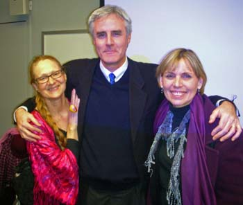Linda and Evelin with Peter Coleman